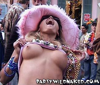 Mardi gras party girls naked
