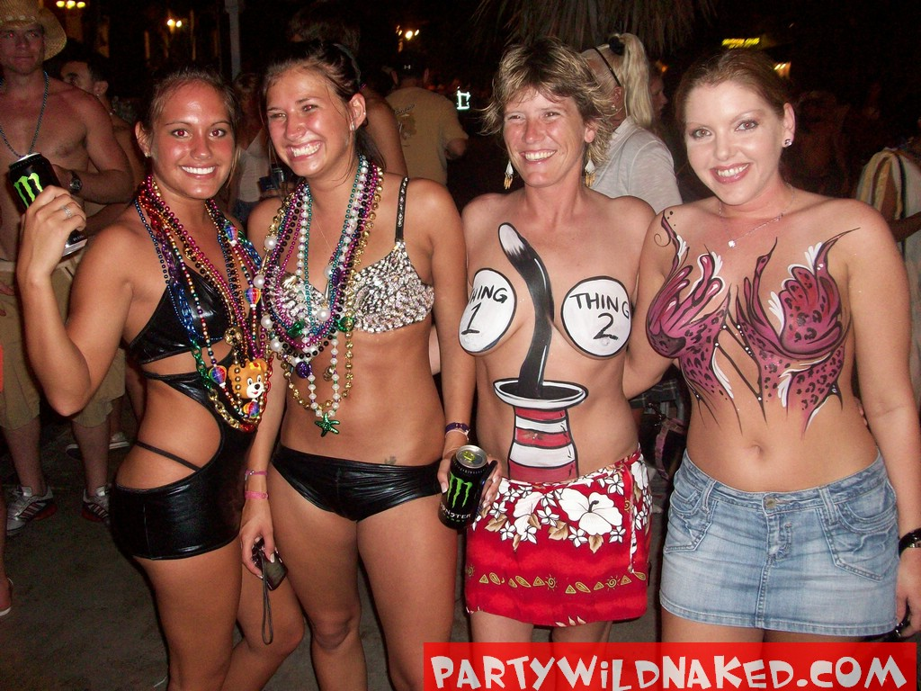 Girls only naked party